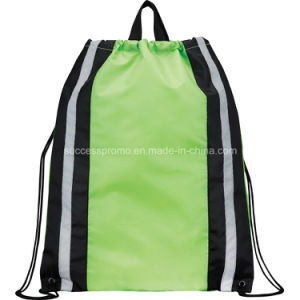 Promotional Reflective Backpack Drawstring Bag pictures & photos