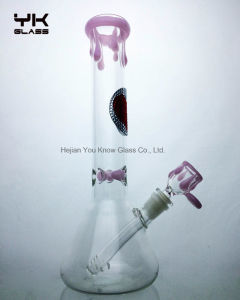 Pink Style Big Glass Pipe Glass Water Pipes Smoking Pipes Recycler Oil Rigs Bubblers Pipes 18mm Joint pictures & photos