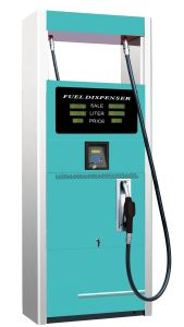Double Nozzle Blue Color Petrol Dispenser with Stainless Steel Panel pictures & photos
