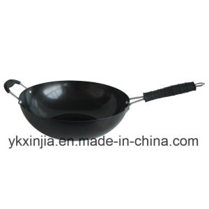 Kitchenware Carbon Steel Non-Stick Wok with Bakelite Handle Cookware pictures & photos