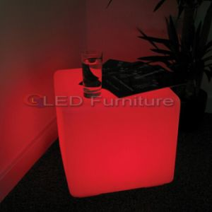 Event Rentals LED Cube Stool for Party Event Furniture Hire