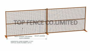 6FT X 10FT Mesh 50mm X 100mm X 3.5mm Canadan Construction Security Fence Panels pictures & photos