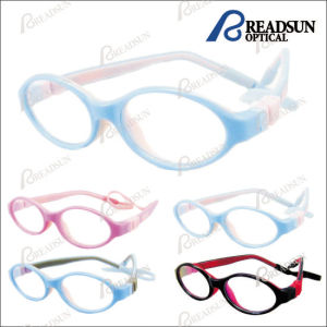 Hot Style Beautiful Tr90 Double Injection Child Glasses pictures & photos