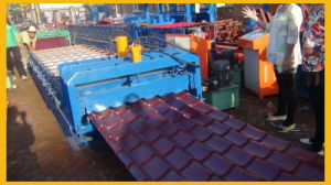 Dx Automatic Step Tile Roof Panel Roll Forming Making Machine Production Line pictures & photos