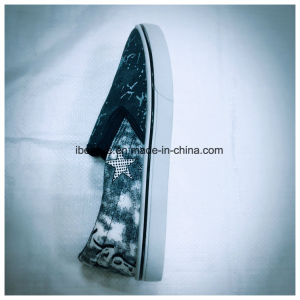 Jeans Upper Elastic Tape in Upper Flat PVC Shoes pictures & photos