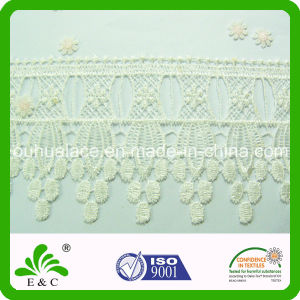 Water Soluble Light Polyester Collar Lace Embroidery Lace