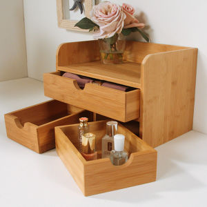 Bamboo Cosmetic Organizer Table Organizer pictures & photos