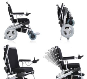 New Version! 1 Second Folding! Power Electric Wheelchair FDA Approved, The Best in The World pictures & photos