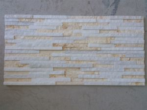 White & Yellow Quartzite Waterfall Wall Stone (SSS-99) pictures & photos
