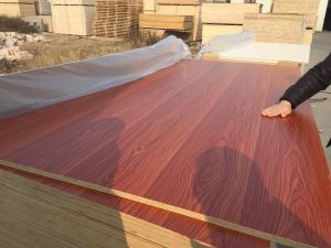 Cheap Price 18mm Melamine Faced Plywood with Hardwood Core pictures & photos