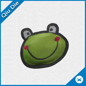 Frog Design Woven Badge with Cotton Inside for Kids pictures & photos