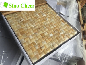 Cube 3D Yellow Honey Onyx Marble Mosaic Tiles pictures & photos