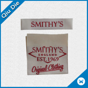 Laser Cut Custom Clothing Garment Brand-New Woven Label pictures & photos