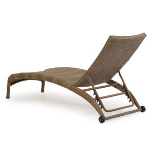 Well Furnir T-020 Outdoor Wicker Tortoise Shell Armless Chaise Lounge pictures & photos
