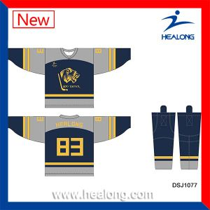 Healong Imported Ink Digital Textile Printing Ball Hockey Jerseys pictures & photos