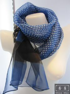 100% Pure Silk Fashion Printed Dotted Scarf/Shawl/Wrap