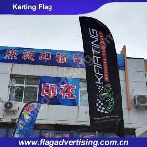 Portable Full Color Polyester Advertising Beach Flag for Sale pictures & photos