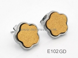 Stainless Steel Fashion Earrings (E102GD)