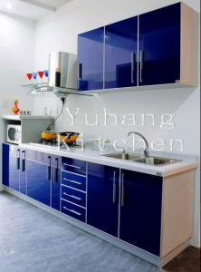 Baked Paint Kitchen Cabinet (M-L101) pictures & photos