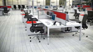 10 People Office Workstation Table with Pedestal, Computer Table with Partition pictures & photos