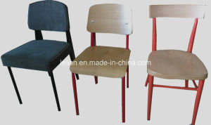 Fast Food Wood Dining Chair Set for Restaurant (LL-DC008) pictures & photos
