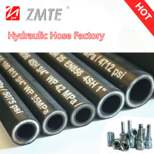 Zmte High Working Pressure Low Price Hydraulic Rubber Hose 4sh pictures & photos