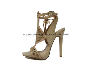 Three Colors Lady fashion Women High Heel Sandals Shoes for Party pictures & photos