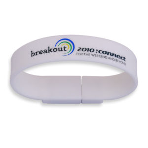 Colorful Bracelet USB Flash Drives with Logo Printing