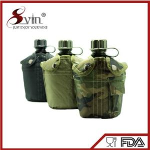 Outdoor Portable Plastic Water Canteen with Custom Logo