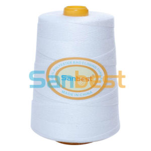 100% Spun Polyester Bag Closing Thread in Raw White or Mix Colors, 200g-8kg Per Cone pictures & photos
