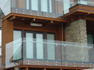 Glass Balustrade Stainless Steel Glass Clamp Stair Railing pictures & photos