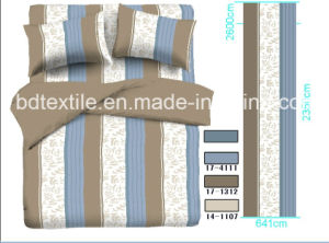 Tops 100% Polyester Printed Stripes Design for Bedding Sets pictures & photos