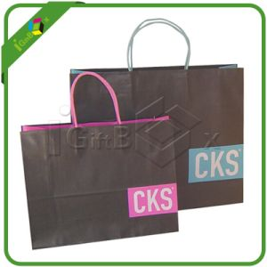 Custom Shopping Kraft Paper Bag pictures & photos