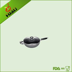 Chiness Cookware Aluminum Nonstick Wok Pan (with lid)