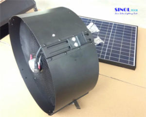 30W 14inch Axial Solar Attic Fan for Wall with Aluminum Blades and DC Brushless Motor (SN2015004) pictures & photos