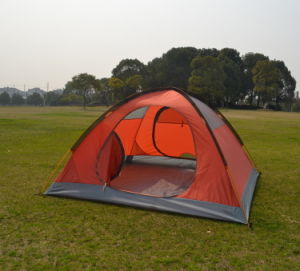 210t Polyester Aluminium Pole Camping Tent for 3 Persons (JX-CT010) pictures & photos