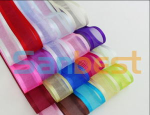 Nylon Decorative Woven Edge Colorful Satin Ribbon pictures & photos