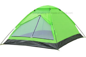 Popular 100% Polyester Single-Skin Camping Tent for 2 Persons (JX-CT017) pictures & photos