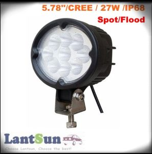 Auto Oval LED Work Light 27W for Heavy Duty Machine/SUV/Truck pictures & photos