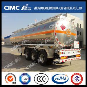 Cimc Huajun 3axle Aluminium Alloy Fuel/Oil/Gasoline/Diesel/LPG Tanker pictures & photos
