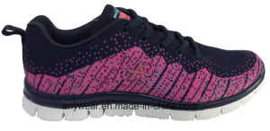 Athletic Women Comfort Flyknit Gym Sports Shoes (W-16766) pictures & photos