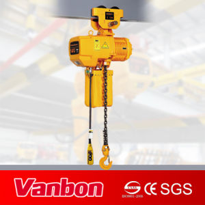 1.5ton Electric Chain Hoist with Manual Trolley (WBH-01501D) pictures & photos