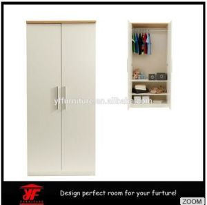 2016 Newest Chest Design Wooden Bedroom Furniture 2 Door Wardrobe Closet