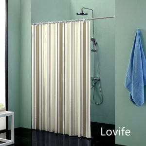 Shower Curtain Bathroom Waterproof Curtain (JG-245) pictures & photos