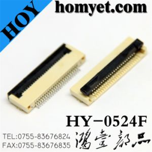 FPC Connector /Flat Cable Connector (HY-0524F) pictures & photos