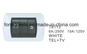 ABS Material South America Chile Wall Mounted Television Socket pictures & photos