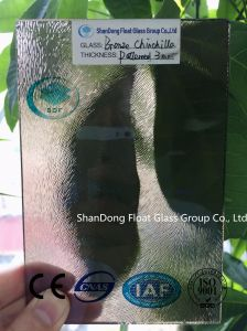 Bronze Chinchilla Patterned Glass with Ce, ISO (3-8mm) pictures & photos