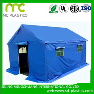 PVC Laminated/Coated Fabric Tarpaulin with UV Treated for Tent pictures & photos