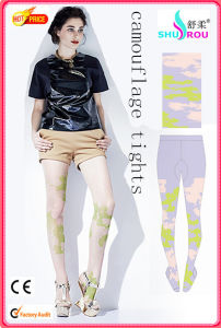 Fashion Sexy 20d Camouflage Printing Tights Pantyhose Leggings Silk Socks Stockings for Women (SR-1271)