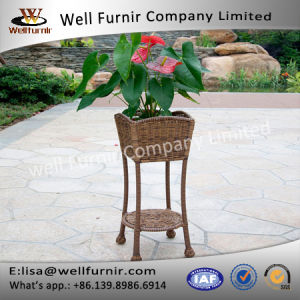 Well Furnir Durable Long Lige Wicker Patio Furniture Planter Stand Home Decor pictures & photos